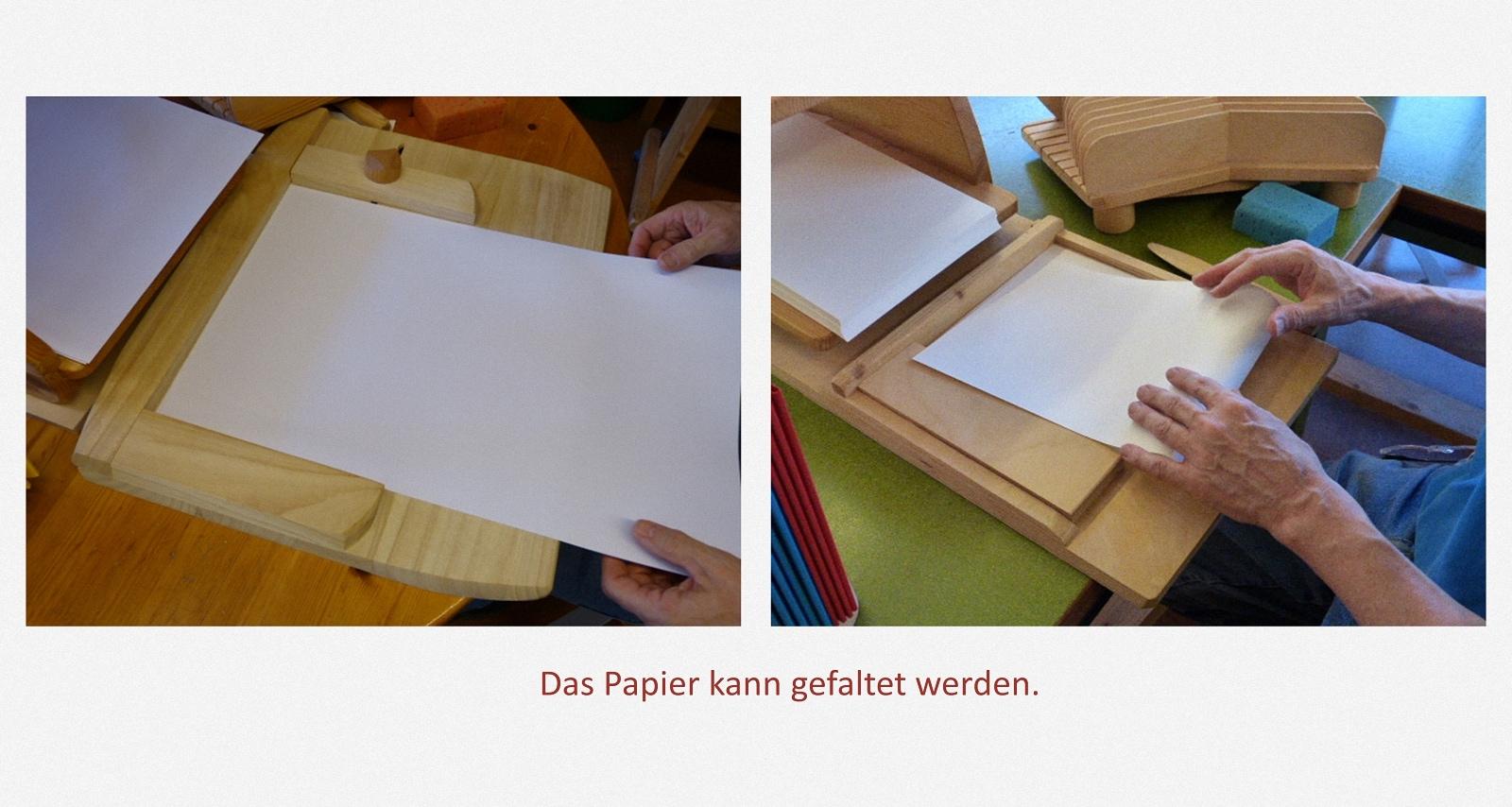 Papier falten Karl-Schubert-Werkstätten – Filderstadt Papierwerkstatt Entwickler: Hans Martin Nüssle