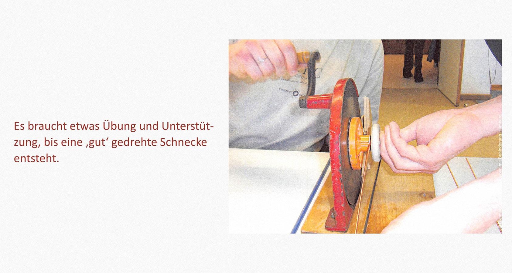 Kupferdraht bearbeiten Leben mit Behinderung Hamburg (LmbH) Arbeit unterstützende Geräte Entwickler: Dietmar Stellmacher